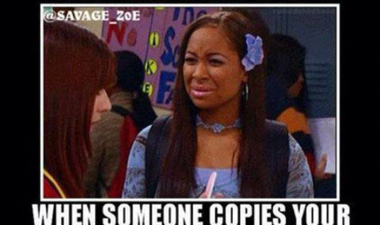 When someone copies your work