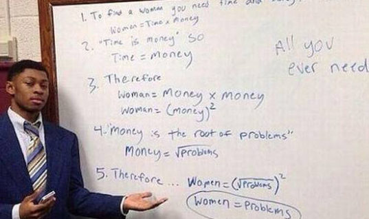 Women = Problems Equation