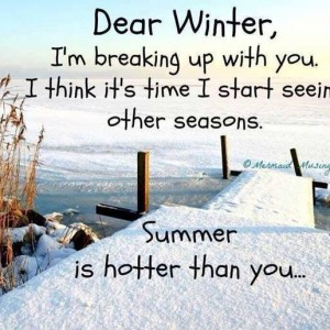Dear Winter!