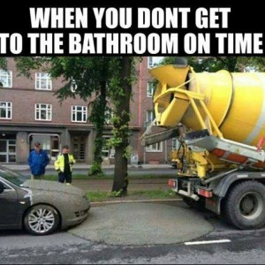 Don't reach bathroom on time