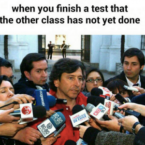 Finishing a test