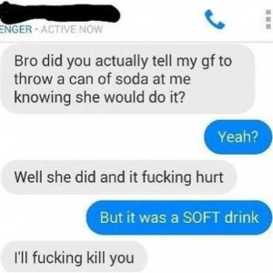 It Was SOFT Drink