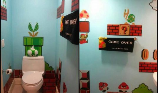 Mario Themes Washroom