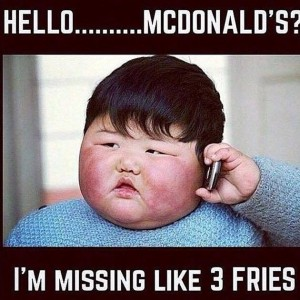 Missing 3 fries