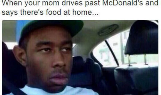 Mom drives past eatery