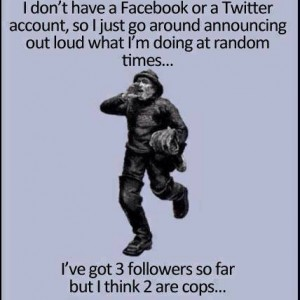 No Facebook or Twitter