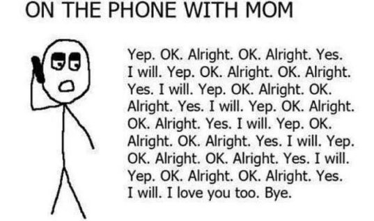 On Phone with Mom