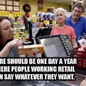 People working retail