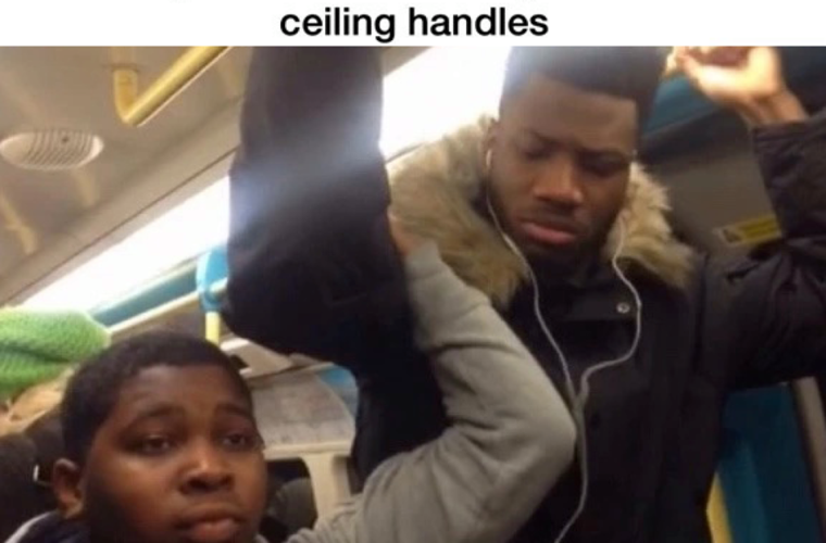 Short people on public transport