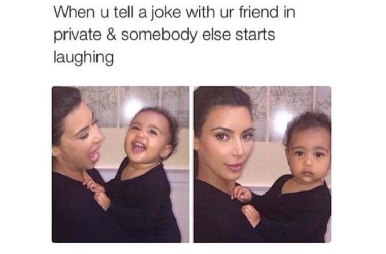 Somebody else laughs at your joke