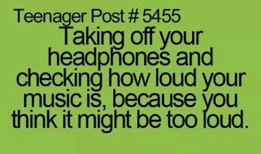 Taking off your headphones