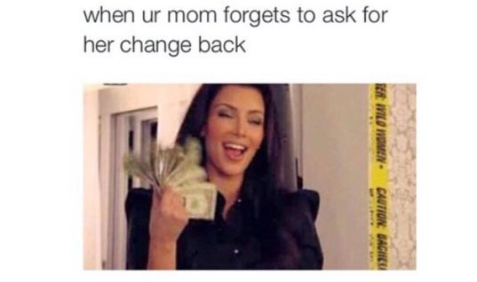 When Mom forgets change