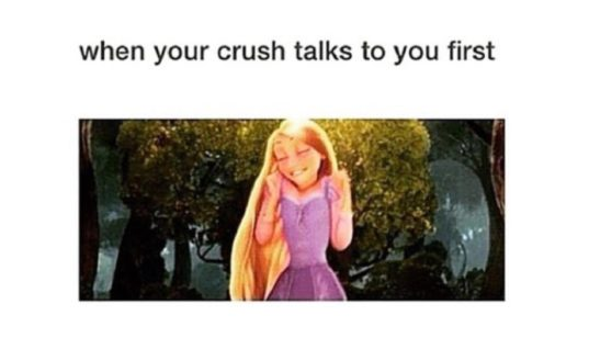 When crush talks