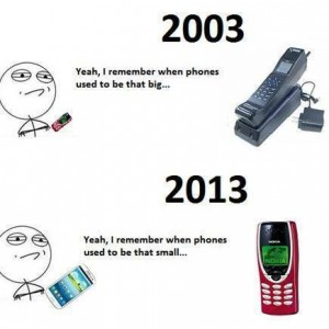 When phones used to be big