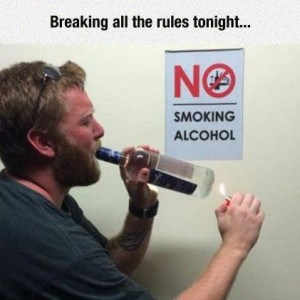 breaking all rules