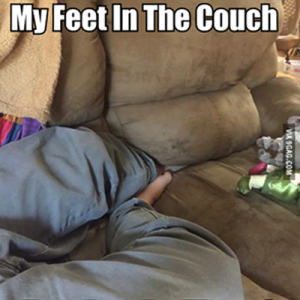 Feet in Couch