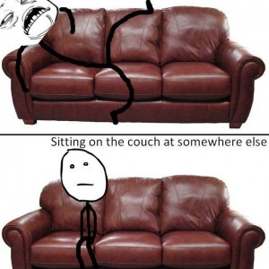 Sitting on Couch