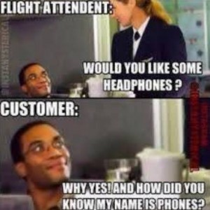 Flirting with Air-Hostess