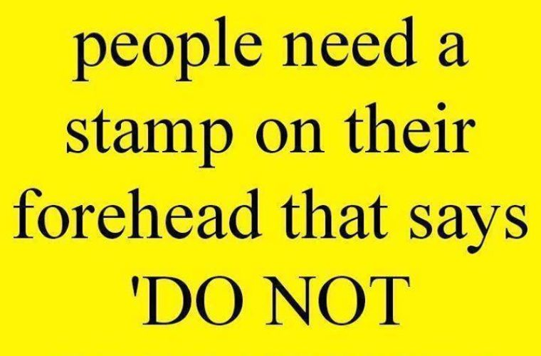 Need a stamp on their forehead
