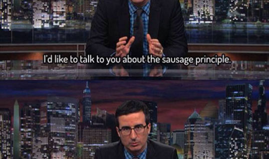 Funny sausage principle by John Oliver