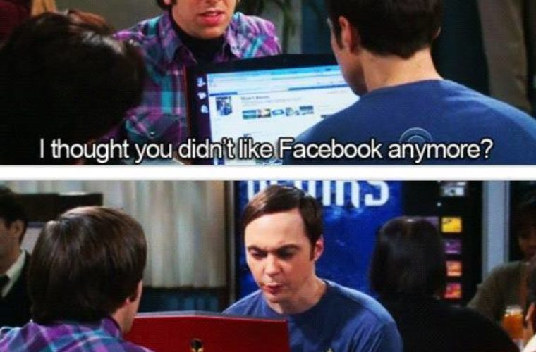 Sheldon And Facebook
