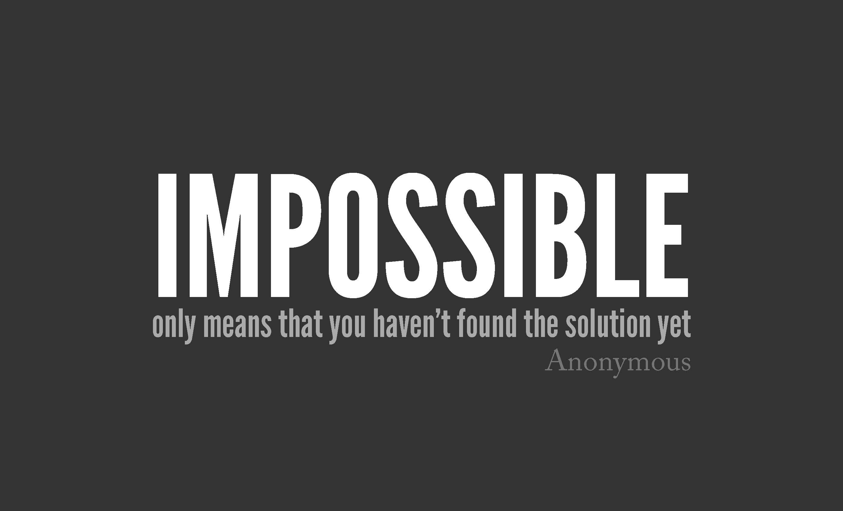 Impossible Solution