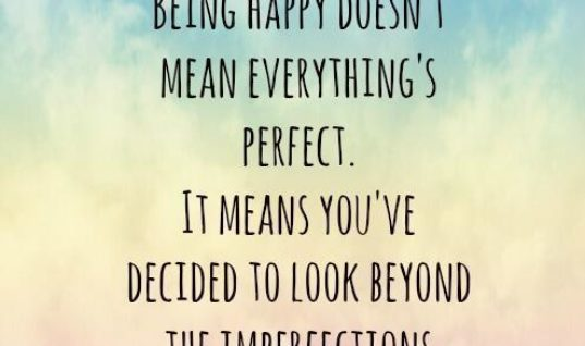 Beyond Imperfections