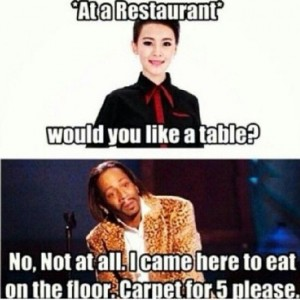 Eating At A Restaurant