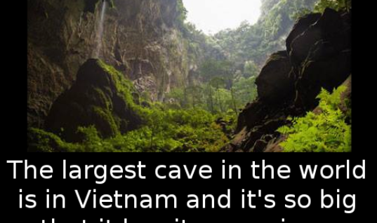 The largest cave