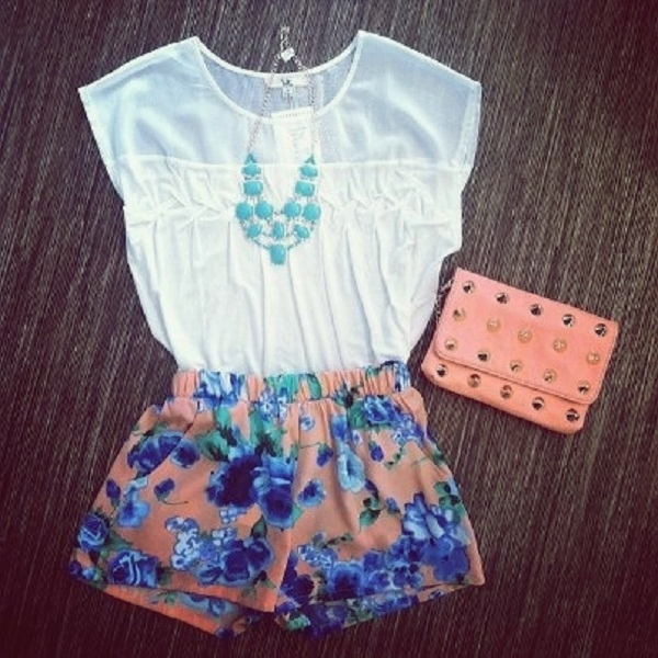 fashionable outfit with shorts