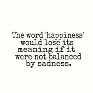 Balanced By Sadness