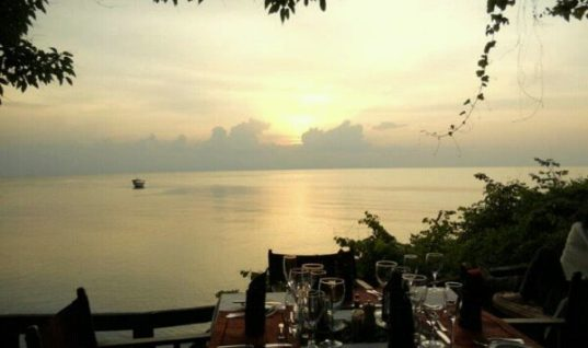 Dinner at GREYSTOKE MAHALE, LAKE TANGANYIKA in TANZANIA