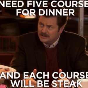 5 Courses For Dinner