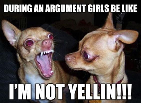 During An Argument