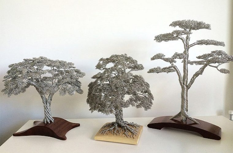 Intricate Tree Sculptures Made From Twisted Wire
