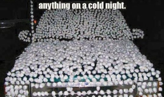 Cotton Balls And Cold Water