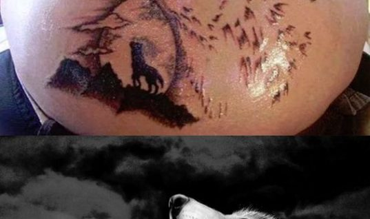 Horrified Wolf Tattoo