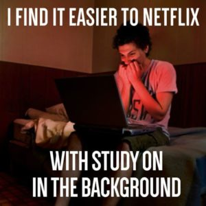 Netflix In The Background