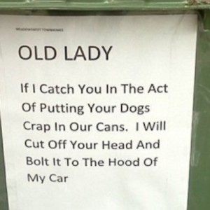 Old Lady Crap