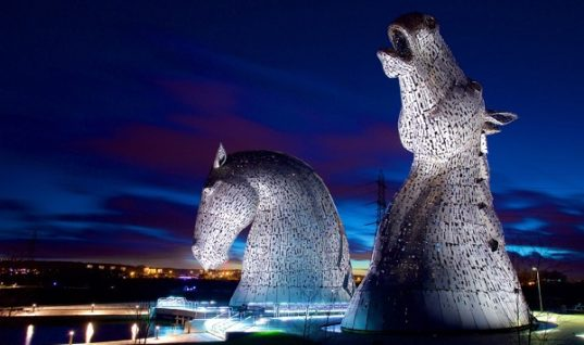 The Kelpies Have Been Unveiled in Scotland