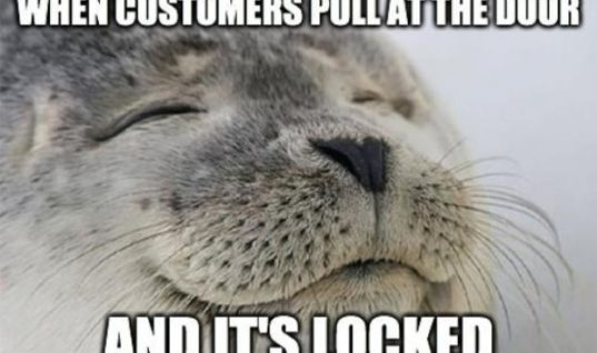 Customers At The Door