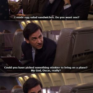 Egg Sandwiches On A Plane