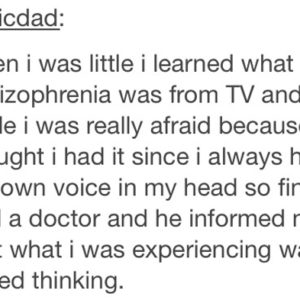 Schizophrenia Thinking