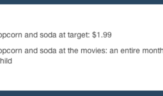 Soda At The Movies