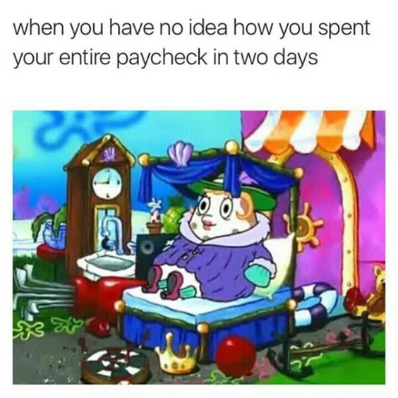 Spent The Entire Paycheck