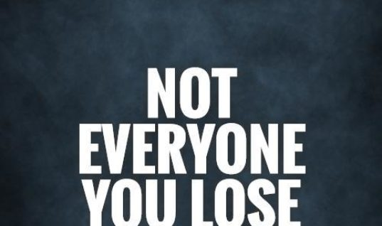 You Lose Someone