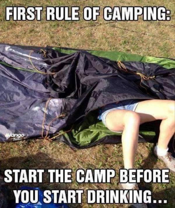 Funniest Meme Pictures : First rule of camping funny pictures quotes memes