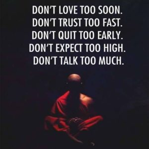 Love Trust Quit Expect Talk