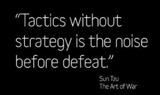 Tactics Without Strategy