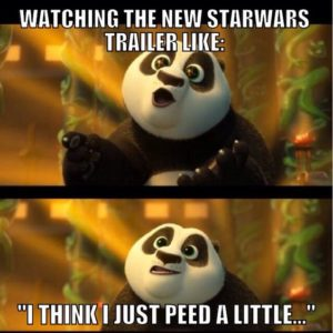 Watching The New Starwars Trailer